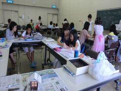 夏休み日本語学校の様子