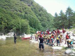 長野県でのサマーキャンプの様子