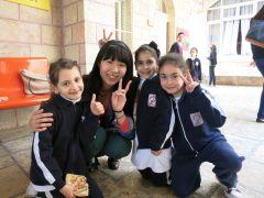 エルサレムの学校風景(当法人の支援を受けている児童もいる)