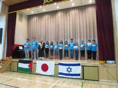 「平和の架け橋 in 東北」プロジェクト報告会(3カ国の参加者たちが、みんなで「花は咲く」を歌う)