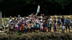 里山団体とコメ作りイベント