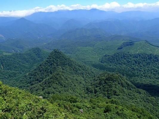 南会津の森林(七ケ岳山頂より)