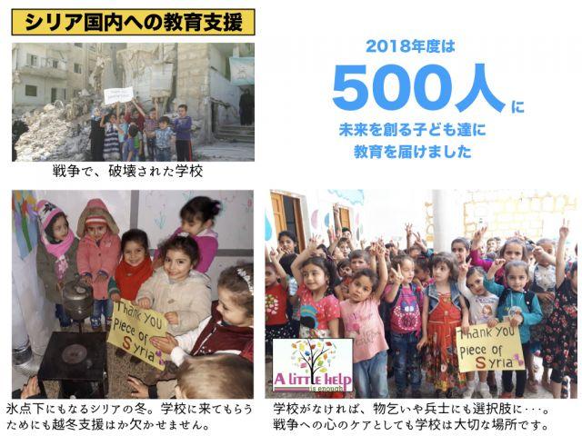 シリア国内への教育支援